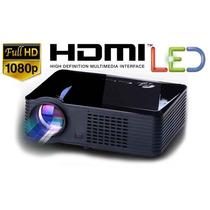 Proyector Led 2500 Lumen Hdmi Tv Hd Full Vga Usb Av Sky Dish