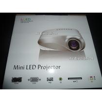 Proyector Led 200 Lumens Nuevo Entradas Hdmi Av Usb Vga Ctl