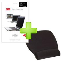 Kit Mousepad Descansamuñecas Con Filtro Privacidad 15.6 3m