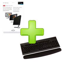 Kit Descansamuñecas P/teclado Con Filtro Privacidad 24 3m