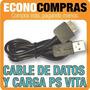 Cable De Transferencia Y Carga Para Psp Vita 100% Nuevo!!!!!