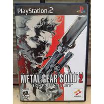 Metal Gear Solid 2 Sons Of Liberty Ps2 Primera Edicion