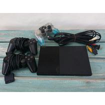 Consola Playstation 2 Ps2 Con Tres Controles