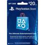 Tarjeta Playstation Store 20 Usd Psn Card Gift Card Ps4 Ps3