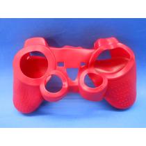 Silicon Skin Case Para Play Station 3 Color Rojo