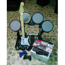 Consola Ps3 + Kit Rock Band