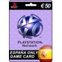 Tarjeta Gift Card Playstation Network España 50 Euros Ps4