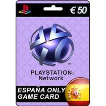 Tarjeta Gift Card Playstation Network España 50 Euros Ps3 Ps