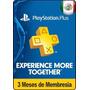 Tarjeta Gift Card Psn Plus 3 Meses Mexicana Ps3 Ps4 Ps Vita