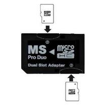 Sanoxyâ® Dual Microsd Al Adaptador Ms Pro Duo (negro) Para S