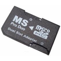 Adaptador Ms Pro Duo Doble Memoria Micro Sd Hc Psp Sony