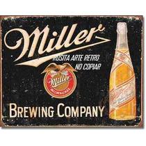 Poster Metalico Anuncio Litografia Lamina Miller Vintage Bar