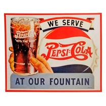 Anuncio Poster De Lamina Metalico Vintage Retro Serve Pepsi