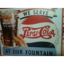 Poster Decorativo Lamina Letrero Vintage Retro Pepsi Cola At