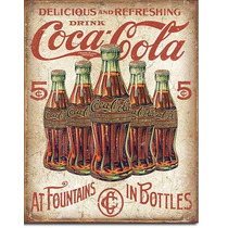 Coca Cola En Botella Poster Litografia Anuncio Letrero Lamin