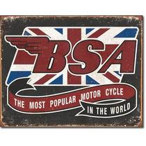 Bsa Motocicletas Las Ma Anuncio Vintage Retro Letrero Cartel