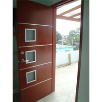 Puertas Minimalistas De Madera 100% Natural