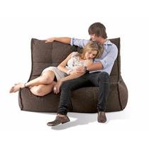 Sillón Love Seat Puff Freedom En Peluche Love Confort