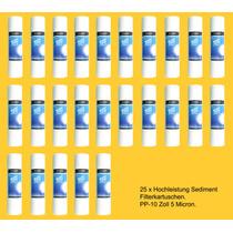 25 Piezas Filtros Cartucho Polipropileno 2.5x10