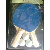 Raquetas De Ping Pong Par Y Pelotas