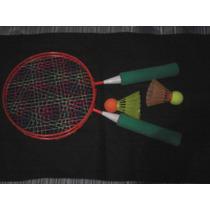 Raquetas Economicas Con 2 Gallitos Nuevas Ping Pong