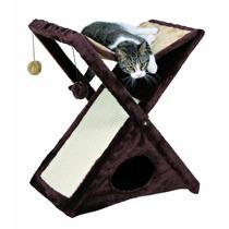 Rascador Para Gato Casa Mascota Rascadero Cama Plegable