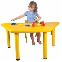 Mesa Escolar Trapezoidal 120x60x50 Preescolar Plastico