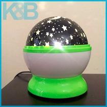 Lampara Proyector Estrellas Gira Esfera Dormir Bebes Niños