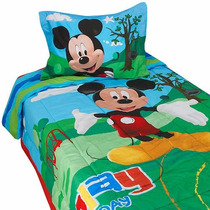Set De Ropa De Cama Dse Mickey Mouse, Envió Gratis