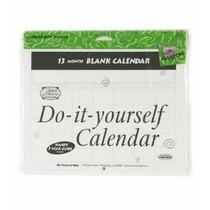 Hágalo Usted Mismo En Blanco Calendario- 13 Meses