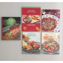 Tapas Saltear Pizza Mexicana Caribe - 5 Libros Recetas Lote