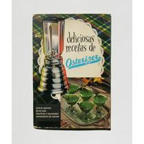 Recetario Osterizer Deliciosas Recetas Libro 1957 Vintage