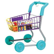 Juguete De Comestibles Compras Trolley- Incluye Play Food