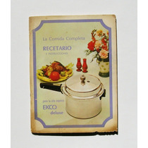 Recetario Ecko La Comida Completa Libro Recetario 1970
