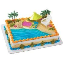 Playa Silla Y Paraguas Decoset Decoración De La Torta