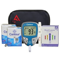 Kit De Pruebas De La Diabetes (bayer Contour Metro + 100 Tir