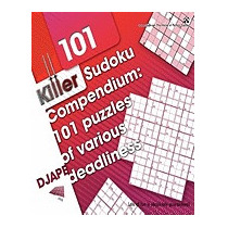 Killer Sudoku Compendium: 101 Puzzles Of Various, Dj Ape