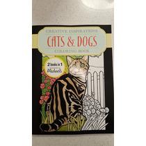 Libro De Colorear Para Adultos Cat & Dogs 2 En 1