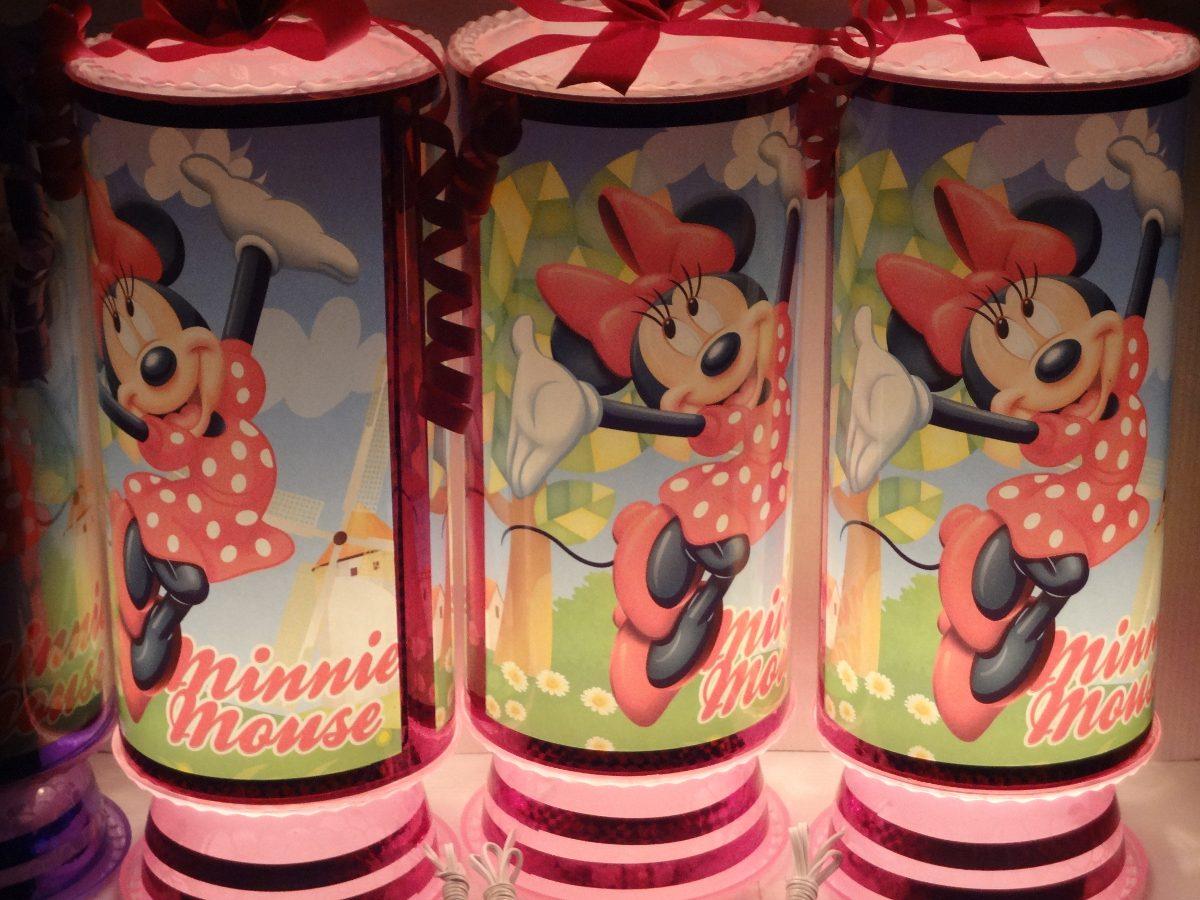 Centros De Mesa Infantiles Mimi Minnie Mouse Mickey Cars Omm