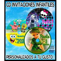25 Invitaciones En Cd O Dvd Personalizadas Para Tus Fiestas
