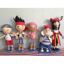 Centros De Mesa Fofuchas Jake Y Los Piratas,mickey Mouse