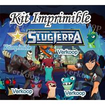 Kit Imprimible Bajo Terra Slug Terra + Candy Bar Tarjetas Mx