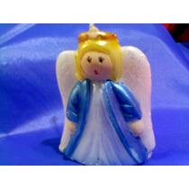 10 Velas De Angel Para Bautizo Y Primera Comunión, Bolo Mn4