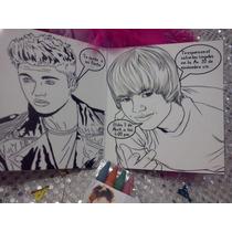 12 Invitacione Justin Bieber Cuento Para Coloreal Y Crayolas