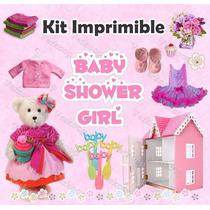 Kit Imprimible Baby Shower Niña - Decoraciones, Cajitas