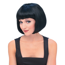 Vestido De Lujo De La Peluca - Short Negro Bob China Doll 60