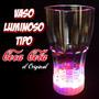 Vaso Luminoso Iluminado Led Multicolor Fiestas De Colores