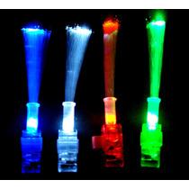 10 Anillos Con Luz Led Y Fibra Optica, Luminoso, Para Fiesta