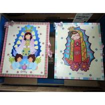 Vela De Bautizo En Set Caja De Virgencita Plis De Luxe