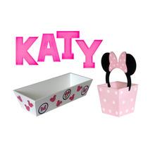 Letrero Mdf Bautizo Baby Nacimiento Cumpleaños Fiesta Minnie